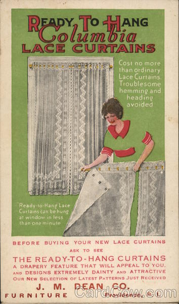 J.M. Dean Co. Furniture - Columbia Lace Curtains Providence Rhode Island