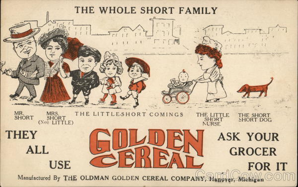 The Oldman Golden Cereal Company Hanover Michigan Advertising