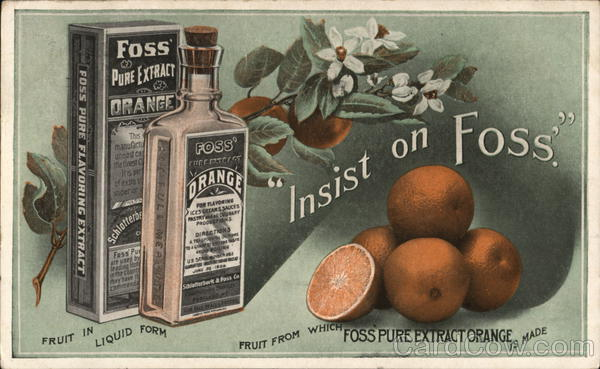 Foss' Pure Extract Vanilla Advertising