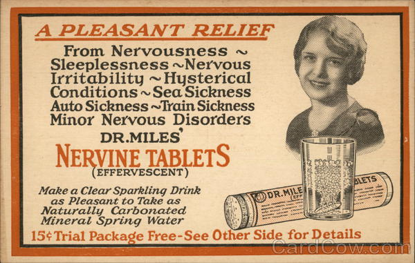 Dr. Miles' Nervine Tablets Elkhart Indiana Advertising