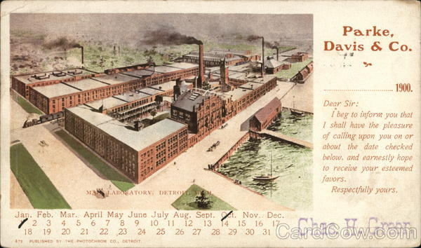 Parke Davis and Company Detroit Michigan Advertising