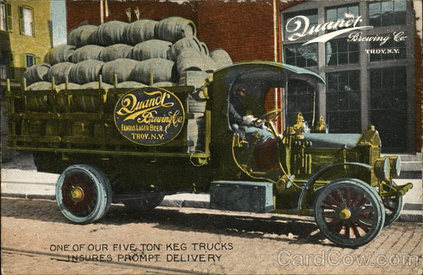 Quandt Brewing Co. Keg Delivery Truck Troy New York