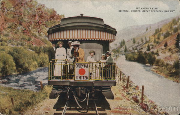 Great Northern Railway - Oriental Limited Advertising