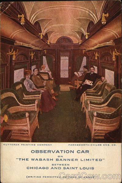 The Wabash Banner Limited Observation Car Chicago Illinois