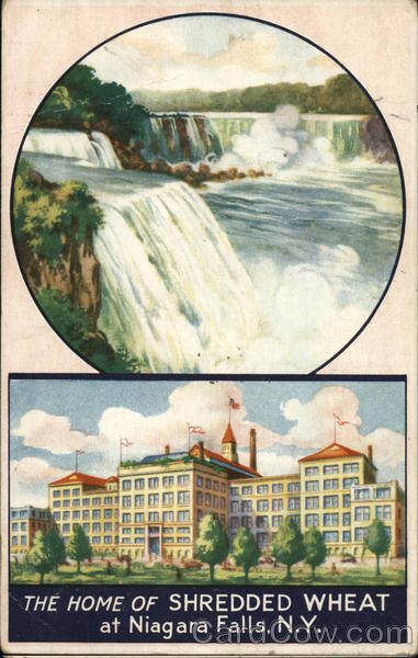 The Home of Shredded Wheat Niagara Falls New York Advertising
