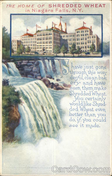 Shredded Wheat Niagara Falls New York Advertising
