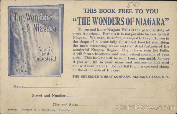 The Shredded Wheat Company Niagara Falls New York Advertising