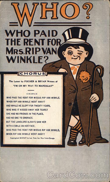 Who Paid the Rend for Mrs. Rip Van Winkle? Advertising