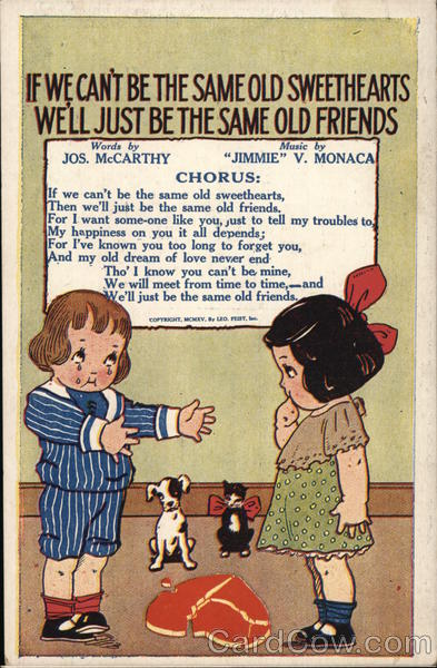 If we can't be the same old Sweethearts - McCarthy - Monaca 1915 Chicago Illinois
