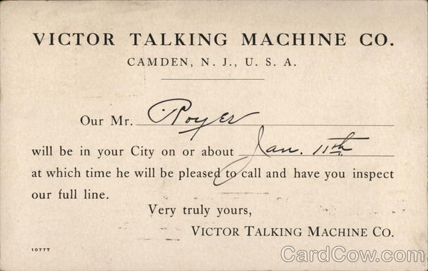 Victor Talking Machine Company Camden New Jersey Advertising