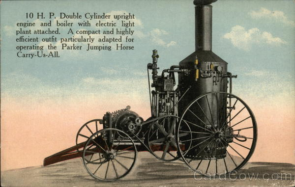 Combine Engine & Boiler by C.W. Parker Leavenworth Kansas