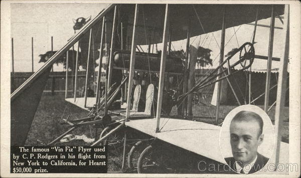 Vin Fiz Flyer used by C.P. Rodgers - Manufactured by Wright Bros. Brooklyn New York