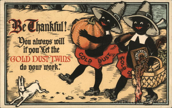 Rare Gold Dust Twins Thanksgiving Advertising Blacks