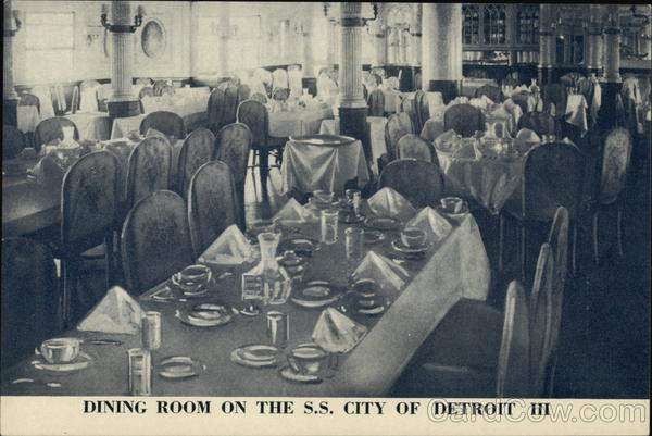 Dining Room on the S.S. City of Detroit III Michigan