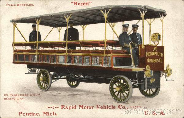 Rapid Motor Vehilcle Co. Pontiac Michigan Advertising