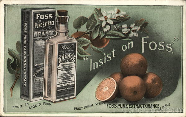 Foss' Pure Orange Extract Portland Maine Advertising