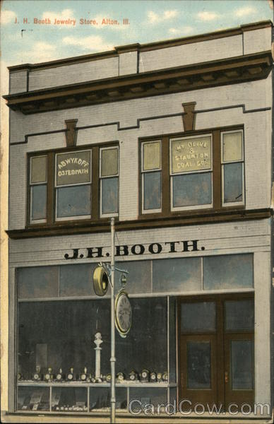J.H. Book, Optometrist Jewelry Osteopath Alton Illinois
