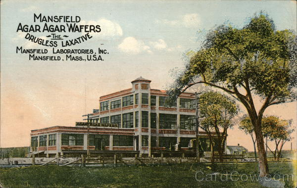 Mansfield Agafr Agar Wafers - The Drugless Laxative Massachusetts