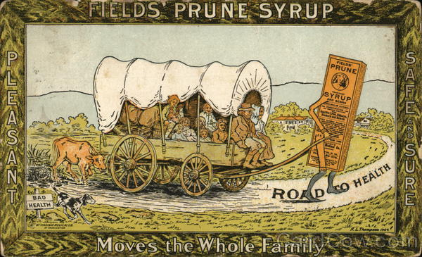 Field's Prune Syrup Advertising