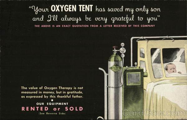 The Ohio Chemical & Mfg. Co., Oxygen Tent Chicago Illinois