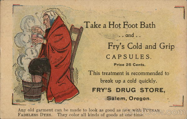 Fry's Drug Store Salem Oregon Advertising Doctors & Medicine
