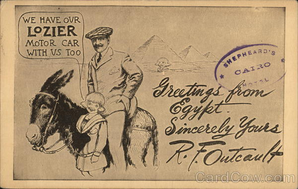 Lozier Motor Car Egypt R. F. Outcault Advertising