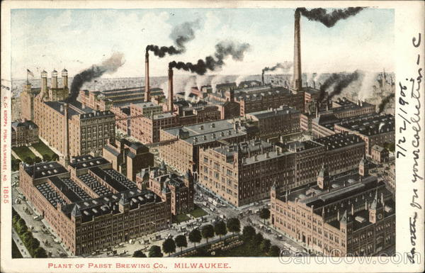 Plant of the Pabst Brewing Company Milwaukee Wisconsin