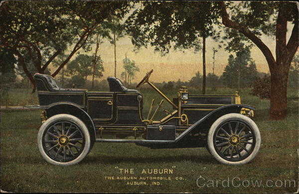 The Auburn Automobile Company Indiana Advertising Cars