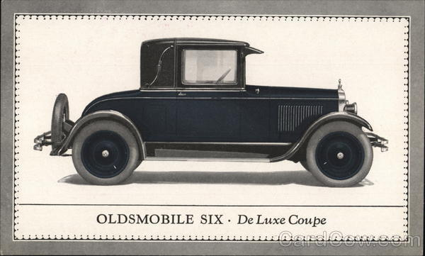 Oldsmobile Six - De Luxe Coupe Advertising Cars