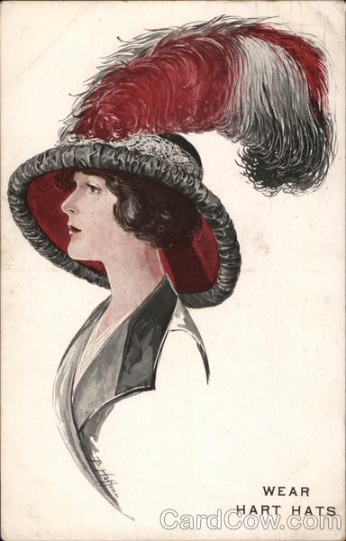 Hart Hats Advertising Glamour