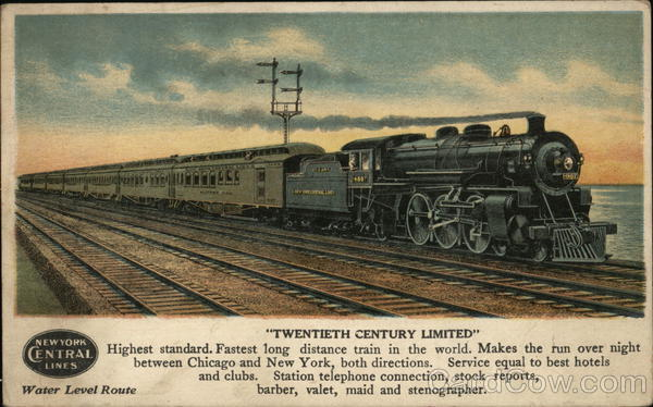 New York Central Lines Twentieth Century Limited Chicago Illinois