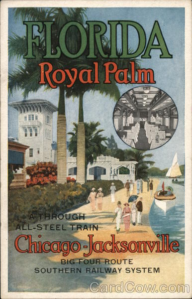 Florida Royal Palm - Poster Style Jacksonville Trains, Railroad