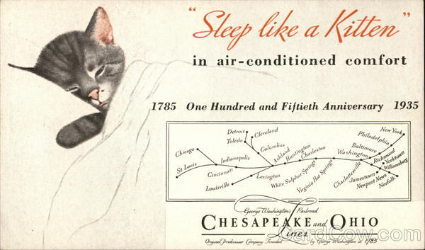 Chesapeake and Ohio Lines Cleveland Advertising