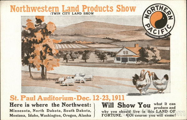 Northwestern Land Products Show, Northern Pacific St. Paul Minnesota