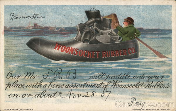 Woonsocket Rubber Company Rhode Island Advertising