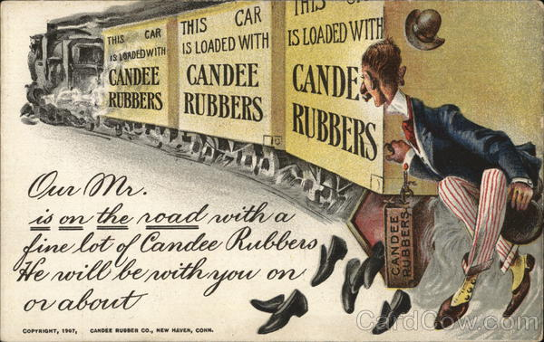 Candee Rubber Co. New Haven Connecticut Advertising