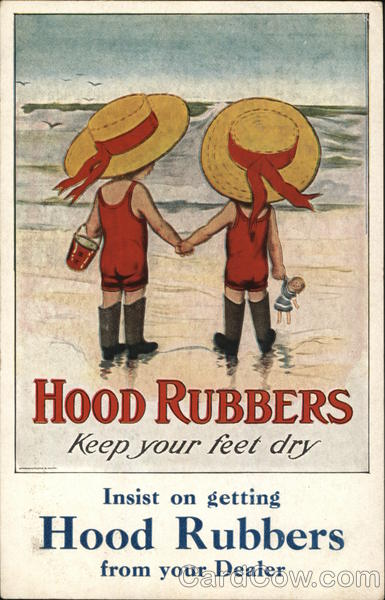 Hood Rubbers Advertising Shoes