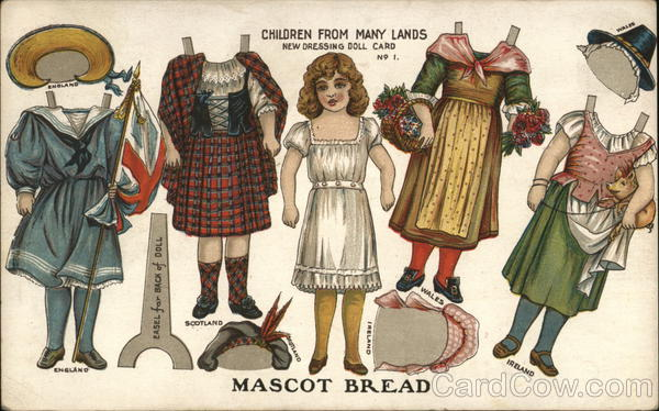 Mascot Bread / Condon Bakery - Children from many lands New Dressing Doll