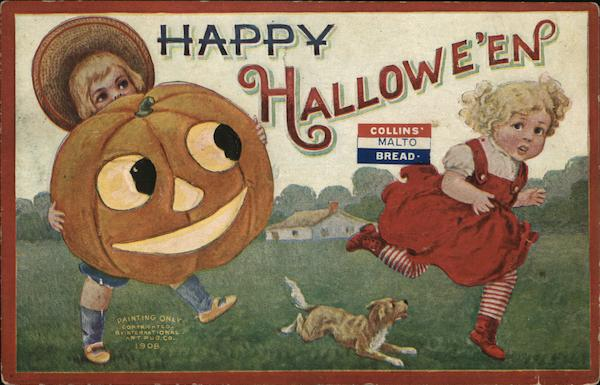 Happy Halloween Collins' Malto Bread Advertising