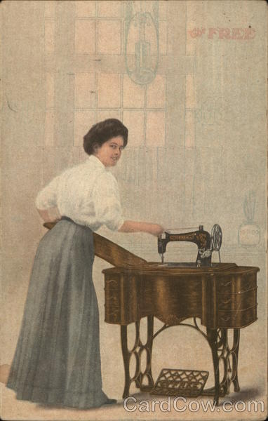 The Free Sewing Machine Advertising