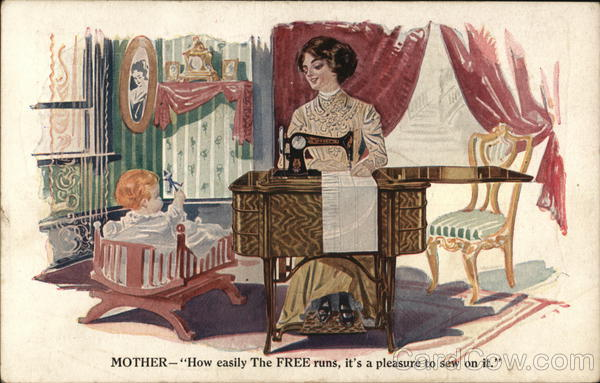 The Free Sewing Machine Company Chicago Illinois Advertising
