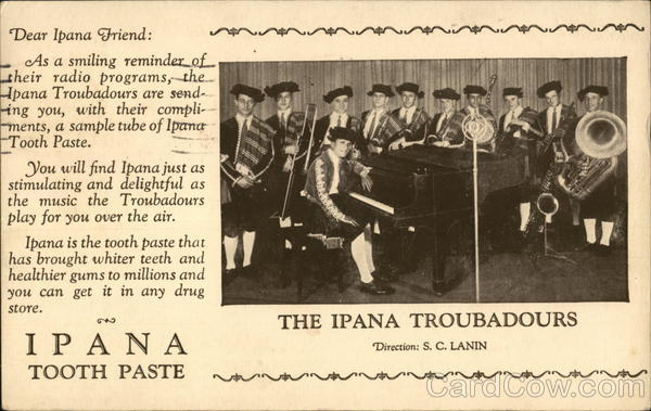 Ipana Tooth Paste Advertising Dentists