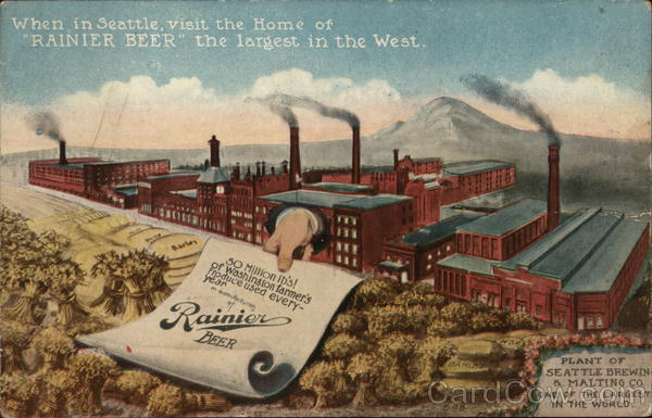 Seattle Brewing and Malt Company Washington Advertising