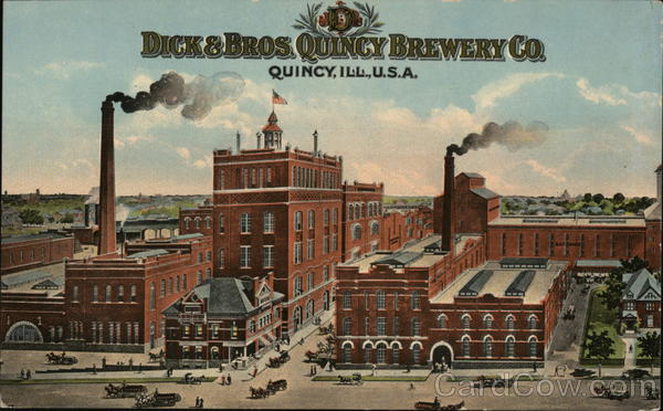 Dick and Brothers Quincy Brewery Company Illinois Advertising