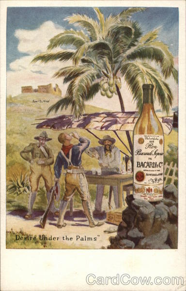 Bacardi Rum Advertising Military