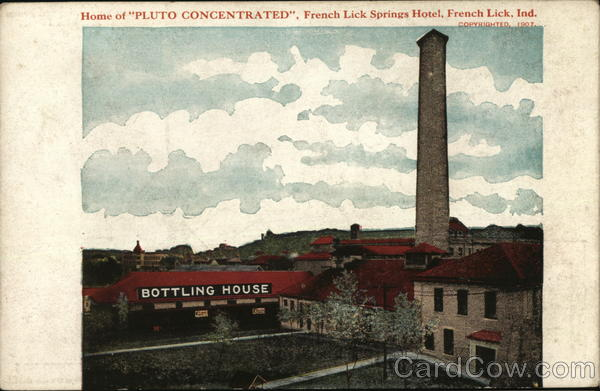 Pluto Water Bottling House French Lick Indiana Advertising