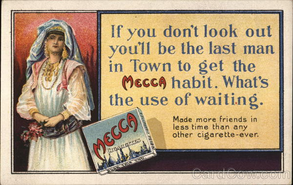 Mecca Cigarettes, Kinney Bros. Tobacco Co. New York City