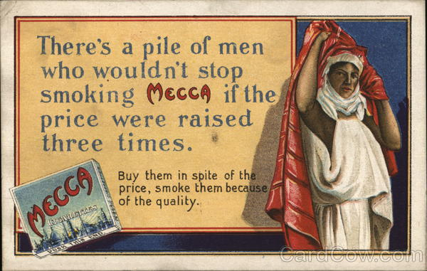 Kinney Brothers Tobacco Company Advertising Arab