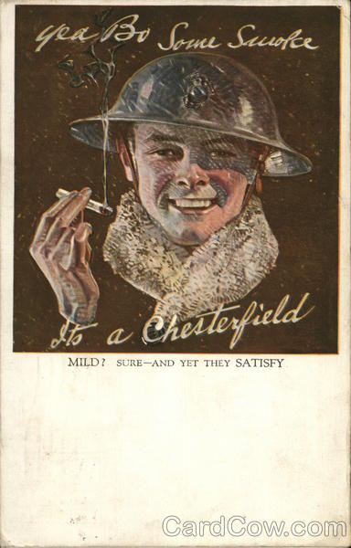 Chesterfield Cigarettes Advertising Tobacco