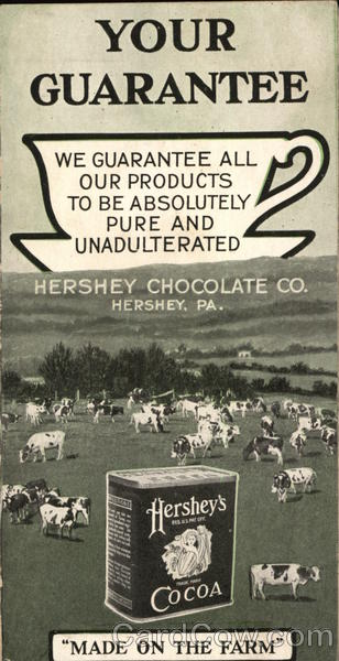 Hershey Chocolate Co. Pennsylvania Advertising Cows & Cattle